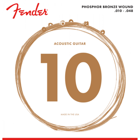 FENDER PHOSPHOR BRONZE ACOUSTIC GUITAR STRINGS 010-048