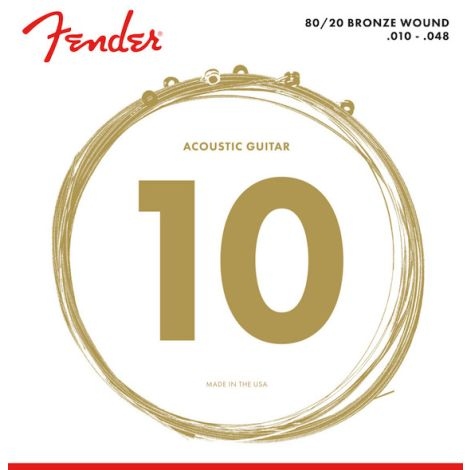 FENDER 80/20 BRONZE ACOUSTIC GUITAR STRINGS 010-048