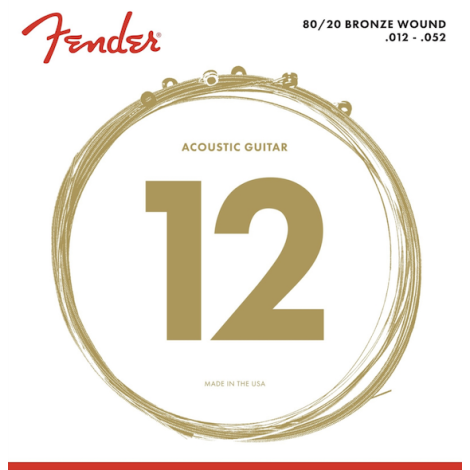 FENDER 80/20 BRONZE ACOUSTIC GUITAR STRINGS 0125-052