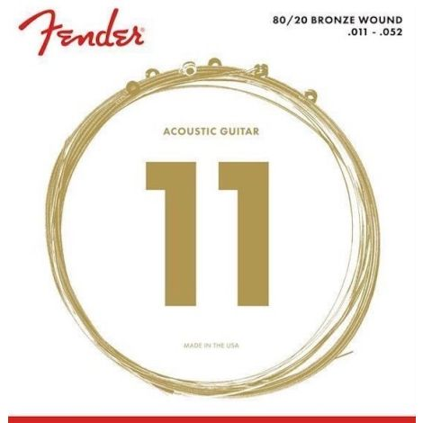 FENDER 80/20 BRONZE ACOUSTIC GUITAR STRINGS 011-052