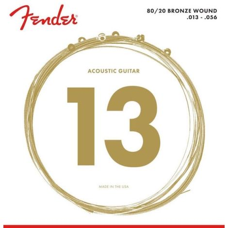 FENDER 80/20 BRONZE ACOUSTIC GUITAR STRINGS 013-056