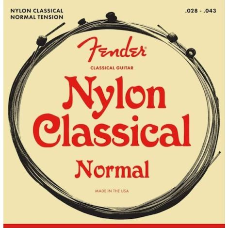 FENDER NYLON ACOUSTIC STRINGS 130 CLEAR/SILVER BALL END 028-043
