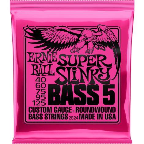ERNIE BALL 2824 40-125 SUPER SLINKY BASS GUITAR STRINGS NICKEL WOUND
