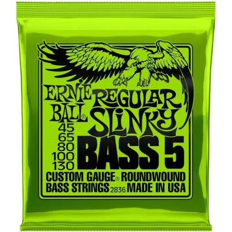 ERNIE BALL 2836 45-130 STRING BASS GUITAR STRINGS NICKEL WOUND ROUNDWOUND 5