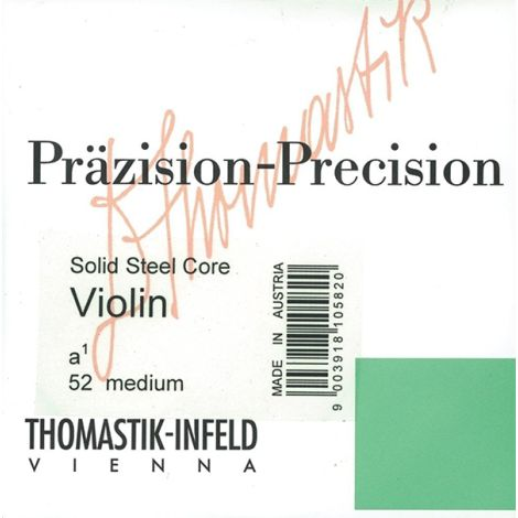 THOMASTIK Prazision Violin 58 Medium Solid Steel Core