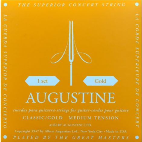 AUGUSTINE STRINGS FOR CLASSIC GUITAR SET GOLD LIGHT