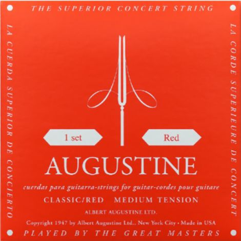 AUGUSTINE STRINGS FOR CLASSIC GUITAR SET RED MEDIUM