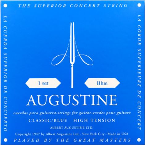 AUGUSTINE STRINGS FOR CLASSIC GUITAR SET BLUE HIGH