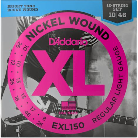 DADDARIO EXL150 12 STRING ELECTRIC GUITAR STRINGS