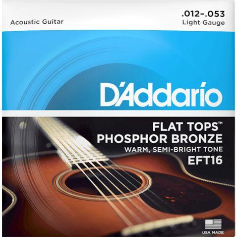 DADDARIO EFT16 12-53 Regular Light Acoustic Guitar String Phosphor Bronze