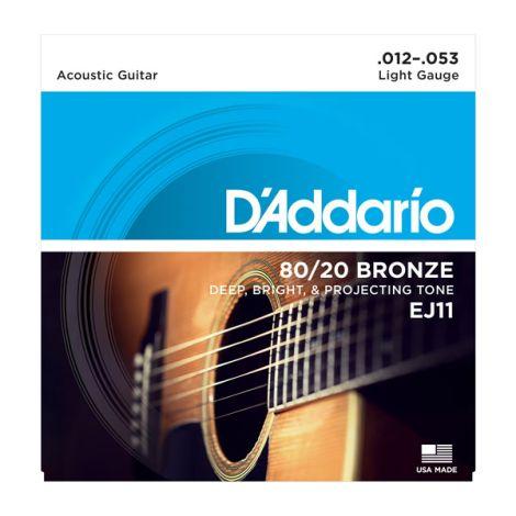 D'ADDARIO EJ 80/20 Bronze Acoustic Guitar Strings