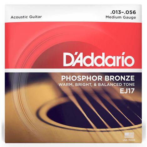 DADDARIO EJ17 13-56 Medium Acoustic Guitar Strings Phosphor Bronze