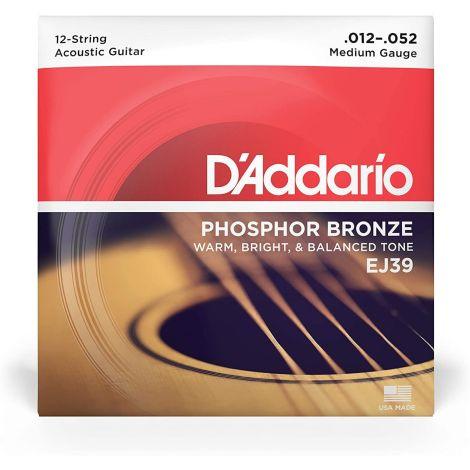 DADDARIO EJ39 12-52 12 STRING ACOUSTIC GUITAR STRINGS PHOSPHOR BRONZE