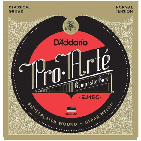 DADDARIO PRO ARTE EJ45C 28-44 NORMAL TENSION CLASSICAL GUITAR STRINGS COMPOSITE NYLON