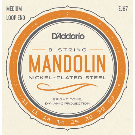 DADDARIO EJ67 11-39 WOUND MANDOLIN STRINGS NICKEL