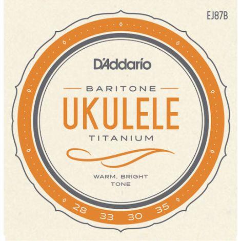 DADDARIO EJ87B 28-33 SET BARITONE UKULELE TITANIUM