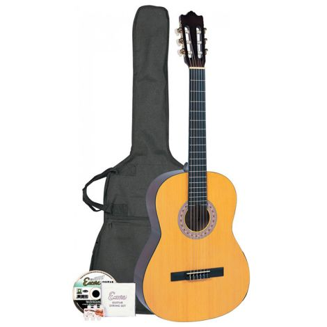 ENCORE ENC44OFT Full Size Classic Guitar Outfit - Natural