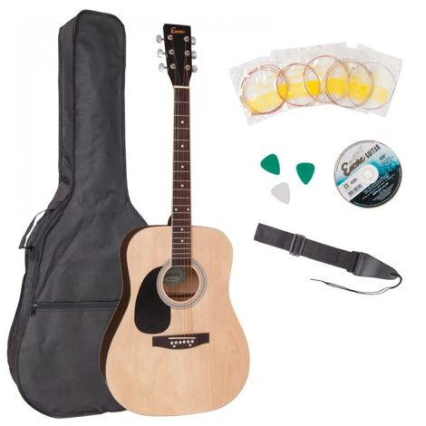 ENCORE EWP-100LH Dreadnought Outfit - Left Hand Natural