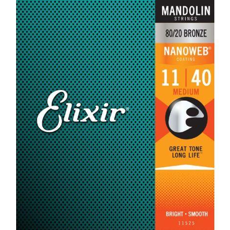 Elixir - Mandolin Nanoweb 80/20 Bronze Medium (11-40 )