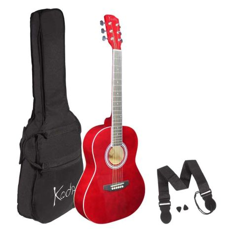 KODA 3/4 SIZE ACOUSTIC GUITAR PACK RED