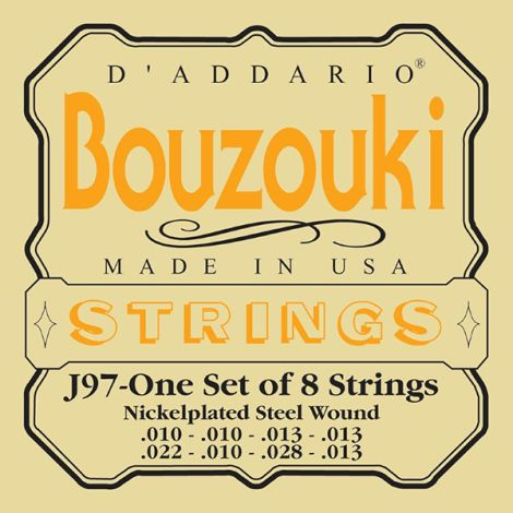 DADDARIO J97 10-13 Bouzouki Greek Strings Set Nickel Wound