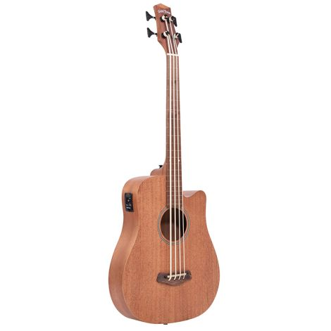 M-Bass25FL 25-Inch Scale Fretless Acoustic-Electric MicroBass with Gig Bag