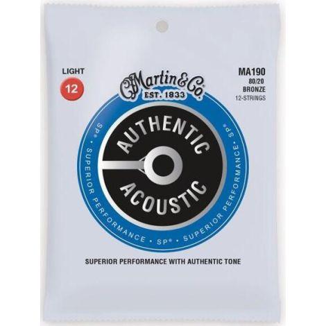 MARTIN M190 12-54 12 Acoustic Guitar Strings Bronze