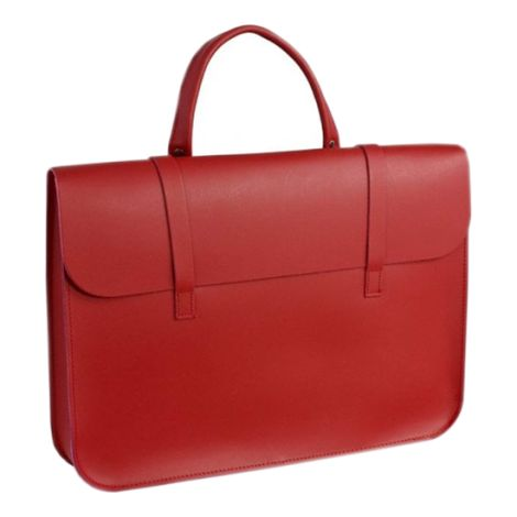 TGI Music Case Leather Red