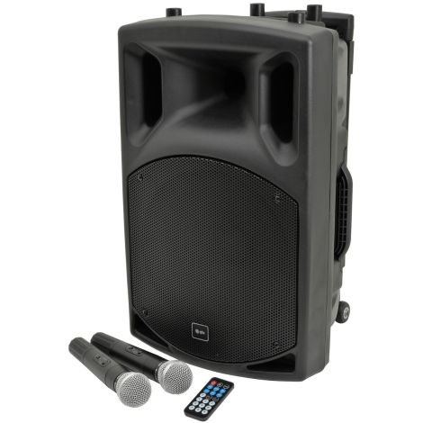 QTX QX12PA PORTABLE PA + BLUE TOOTH MICS