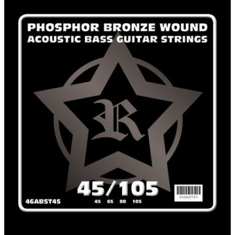 ROSETTI 46ABST45 45-105 ACOUSTIC BASS GUITAR STRINGS NICKEL ROUNDWOUND