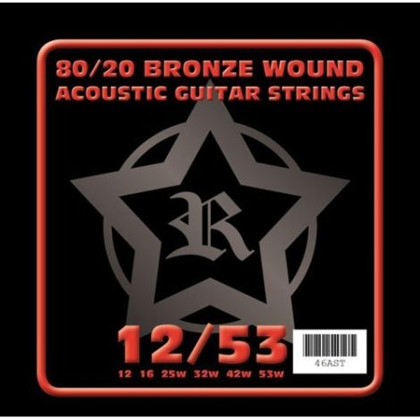 ROSETTI 46AST12 12-53 ACOUSTIC GUITAR STRINGS BRONZE WOUND