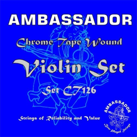 AMBASSADOR 99126 CHROME TAPE CT126 3/4 OR 4/4 VIOLIN STRING