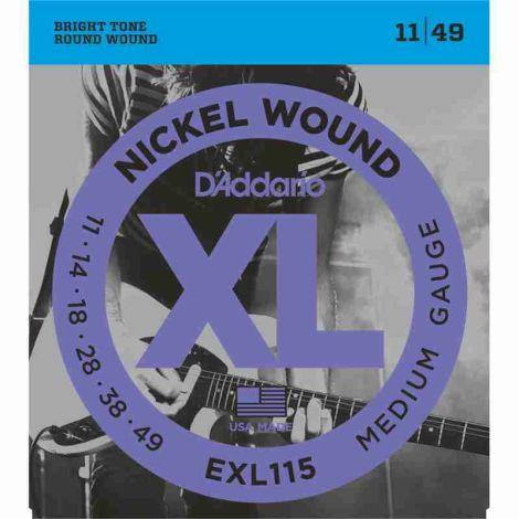 DADDARIO EXL115 BLUES 11-49 ELECTRIC GUITAR STRINGS NICKEL WOUND