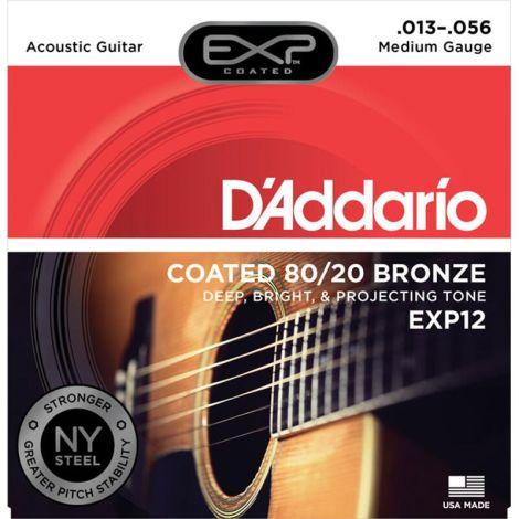 DADDARIO EXP12 13-56 Medium Acoustic Guitar Strings Phosphor Bronze
