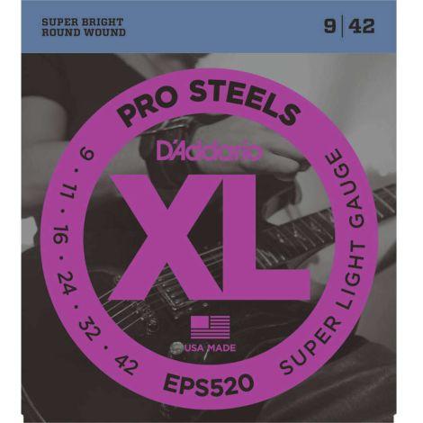 DADDARIO EPS520 PRO 9-42 ELECTRIC GUITAR STRINGS STEEL