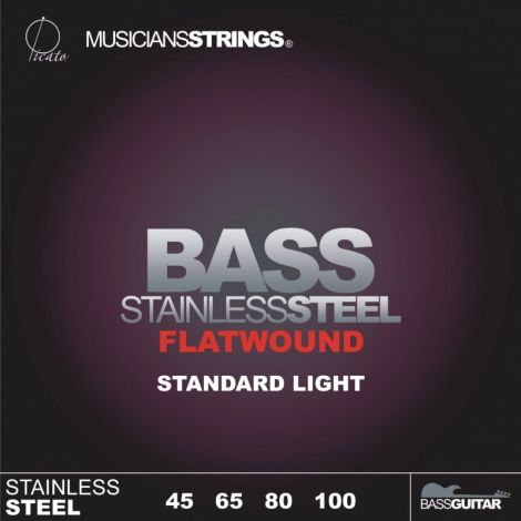 PICATO 96658 45-105 FLATWOUND BASS GUITAR STRINGS STAINLESS STEEL