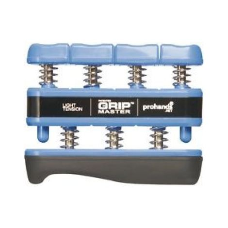 PRO HANDS GRIP MASTER BLUE HAND EXERCISER. LIGHT TENSION