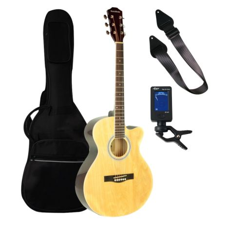 MUSIC MINDS CUTAWAY 3/4 Acoustic Guitar Beginners Pack