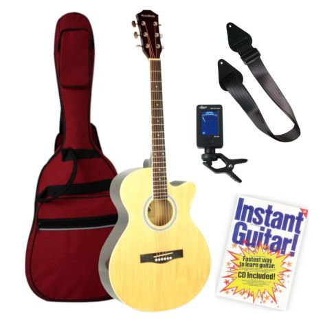 MUSIC MINDS ACOUSTIC GUITAR NATURAL BEGINNERS PACK