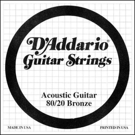 DADDARIO DBW21 80-20 SINGLE ACOUSTIC GUITAR STRING PHOSPHOR BRONZE