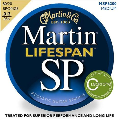 MARTIN MSP6200 13-56 Cleartone Acoustic Guitar String Bronze