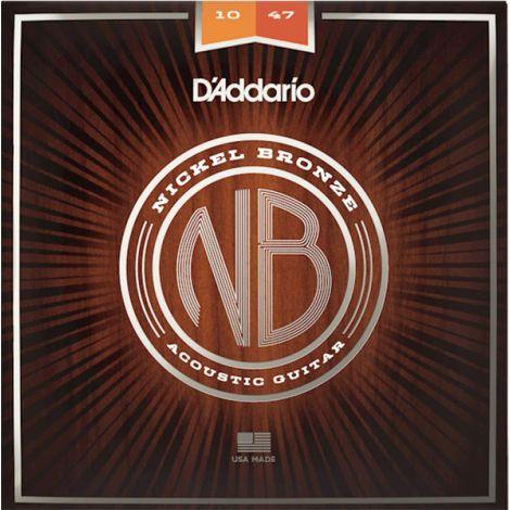 DADDARIO NB1047 10-47 Extra Light Acoustic Guitar String Nickel Bronze