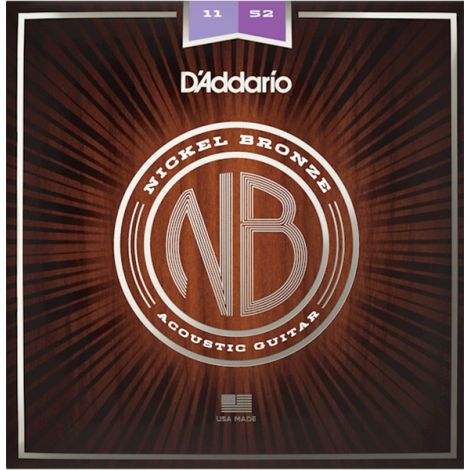 DADDARIO NB1152 11-52 Custom Light Acoustic Guitar String Nickel Bronze