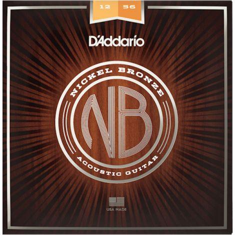 DADDARIO NB1256 12-56 Light Top/Medium Bottom Acoustic Guitar String Nickel Bronze