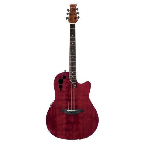 OVATION Applause Electro Acoustic Guitar AE44IIP Ruby Red Mid Cutaway