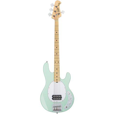 SUB RAY4 Mint Green Maple Neck White Pickguard Bass