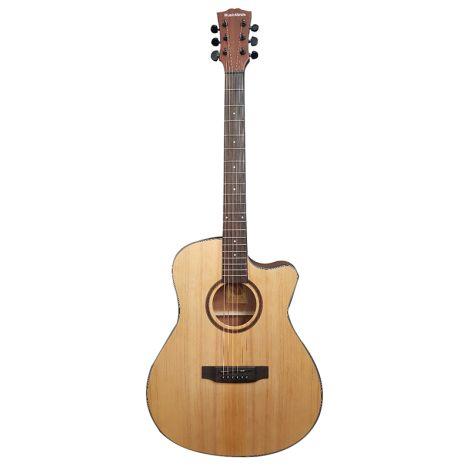 MUSIC MINDS Deluxe Folk Acoustic Guitar Natural Bundle Deal