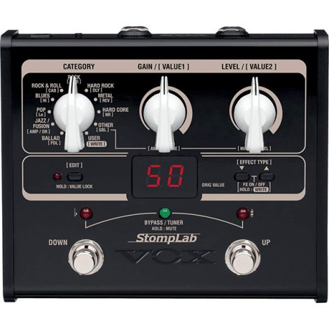 VOX STOMPLAB 1G MULTI-EFFECT STOMPBOX FOR GUITAR