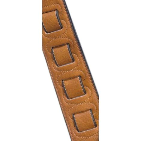 STAGG Padded Leather Strap Honey