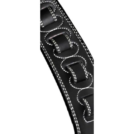 STAGG Padded Leather Extra Large Strap Black